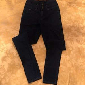 Ladies Dark Denim Skinny Jeans